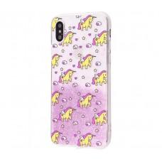 Чехол для iPhone X / Xs Chic Kawair розовые единорожки