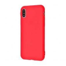 Чехол для iPhone X / Xs Matte красный