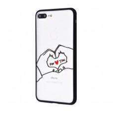 Чехол для iPhone 7 Plus/8 Plus Minimal Print сердце