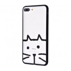 Чехол для iPhone 7 Plus/8 Plus Minimal Print кот
