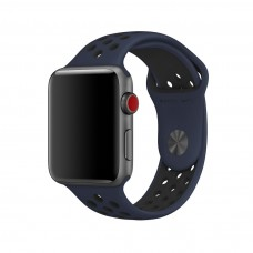 Силиконовый ремешок для Apple Watch 38/40/42/44мм Nike Sport Band Obsidian/Black