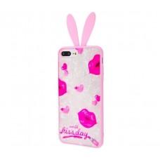 "Чехол для iPhone 7 Plus / 8 Plus blood of jelly rabbit ears ""Kiss day"""