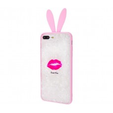 "Чехол для iPhone 7 Plus / 8 Plus blood of jelly rabbit ears ""Sweet Kiss"""