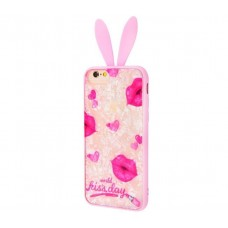 "Чехол для iPhone 7 / 8 blood of jelly rabbit ears ""Kiss day"""