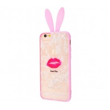 "Чехол для iPhone 7 / 8 blood of jelly rabbit ears ""Sweet Kiss"""