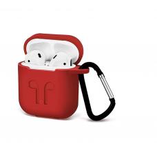 Силиконовый Soft touch чехол для AirPods Red (Красный)