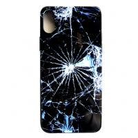 Чехол Glass Case для iPhone X с рисунком битого стекла