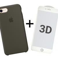 Набор 1 + 1: Silicone case и защитное стекло