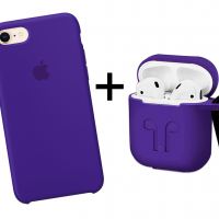 Набор 1 + 1: Silicone case и чехол для AirPods