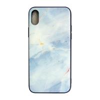 Чехол Glass Case для iPhone X с мраморным принтом