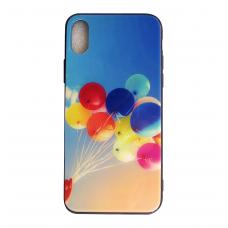 Чехол Glass Case для iPhone 6/7/8/7Plus/8 Plus/X/Xs с рисунком шариков