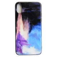 Чехол Glass Case для iPhone X краски