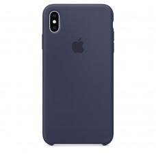 Apple Silicone case iPhone XS Max Midnight Blue купить Киев Украина - appleiPhone XS Max silicone case