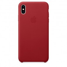 Apple Leather case iPhone XS Max Red купить Киев Украина - apple iPhone XS Max Leather case