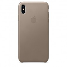 Apple Leather case iPhone XS Max Taupe купить Киев Украина - apple iPhone XS Max Leather case