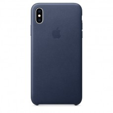 Apple Leather case iPhone XS Max Midnight Blue купить Киев Украина - apple iPhone XS Max Leather case