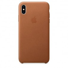 Apple Leather case iPhone XS Max Saddle Brown купить Киев Украина - apple iPhone XS Max Leather case