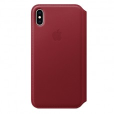 Чехол-книжка для iPhone XS Leather Folio Red (Красный)