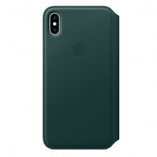 Чехол-книжка для iPhone XS Leather Forest Green