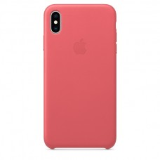 Apple Leather case iPhone XS Max Peony Pink купить Киев Украина - apple iPhone XS Max Leather case