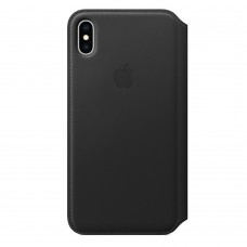 Чехол-книжка для iPhone XS Max Leather Folio Black (черный)