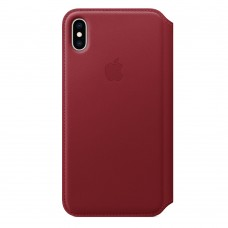 Чехол-книжка для iPhone XS Max Leather Folio Red (Красный)