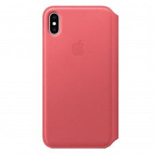Чехол-книжка для iPhone XS Max Leather Folio Peony Pink (Розовый)