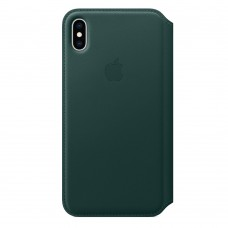 Чехол-книжка для iPhone XS Max Leather Forest Green (Зеленый)