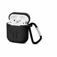 Силиконовый Soft touch чехол для AirPods Black (Черный)