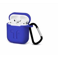 Силиконовый Soft touch чехол для AirPods Blue (Синий)