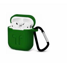 Силиконовый Soft touch чехол для AirPods Dark Green (Темно-Зеленый)