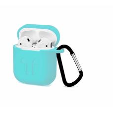 Силиконовый Soft touch чехол для AirPods Mint (Мятный)