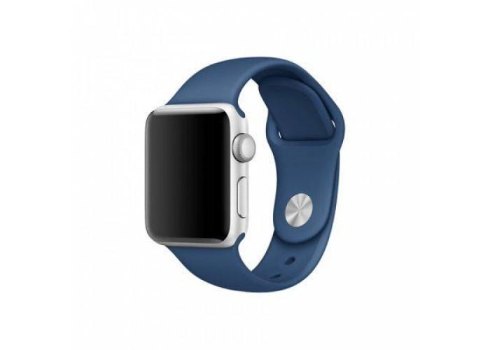 Силиконовый ремешок для Apple Watch 38/40/42/44мм Ocean Blue