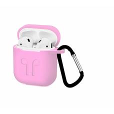 Силиконовый Soft touch чехол для AirPods Pink (Розовый)