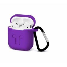 Силиконовый Soft touch чехол для AirPods Violet (Фиолетовый)
