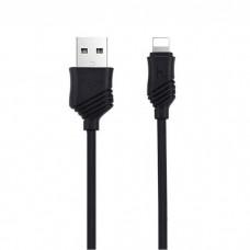 Кабель Hoco X6 Khaki USB to Lightning black