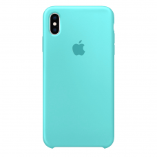 Силиконовый чехол Apple Silicone Case Sea Blue для iPhone XS Max