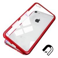 Чехол Shockproof Magnetic Metal Gorilla Tempered Glass Case Cover для iPhone 7/8 Красный
