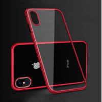 Чехол Shockproof Magnetic Metal Gorilla Tempered Glass Case Cover для iPhone X Красный
