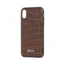 Чехол для iPhone X / Xs Kajsa коричневый