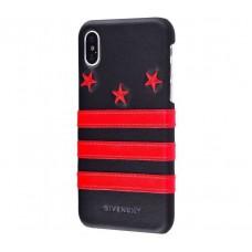 "Чехол для iPhone X / Xs Givenchy stars ""три красные звезды"""