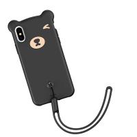 Черный силиконовый чехол Baseus Bear Case для iPhone Xs Max