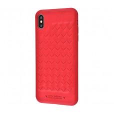 Чехол для iPhone Xr Polo Ravel (Leather) красный