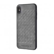 Чехол для iPhone Xr Polo Ravel (Leather) серый