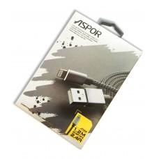 Плетеный Lightning кабель Aspor A132