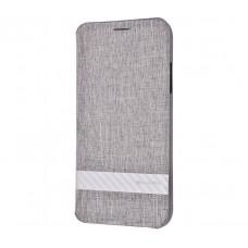 Чехол книжка для iPhone Xr G-Case Funky series серый