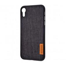 Чехол для iPhone Xr Dark series textil черный