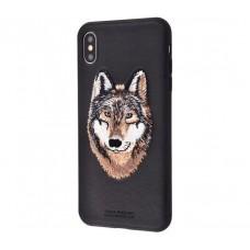Чехол для iPhone Xs Max Savanna iberian wolf