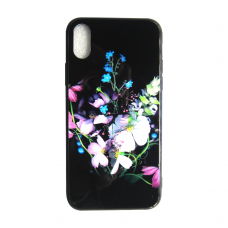 Чехол Glass Case для iPhone 6/7/8/7 Plus/8 Plus/X/Xs Flowers