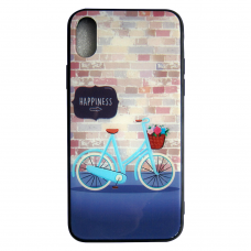 Чехол Glass Case для iPhone 6/7/8/7 Plus/8 Plus/X/Xs Happiness